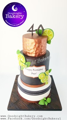 Moscow Mule Inspired Cake