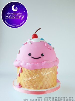 Kawaii Ice Cream Cake