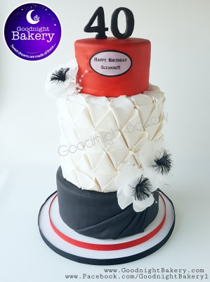 Black, White and Red 40th Birthday