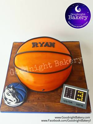 Dallas Mavs Basketball Cake