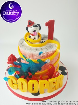 Firefighter Pup Cake