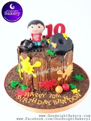 Paintball Themed Cake