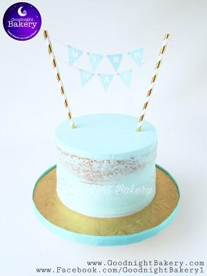 Tiffany Blue Bunting Naked Cake