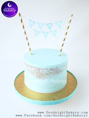Tiffany Blue Bunting Naked Cake