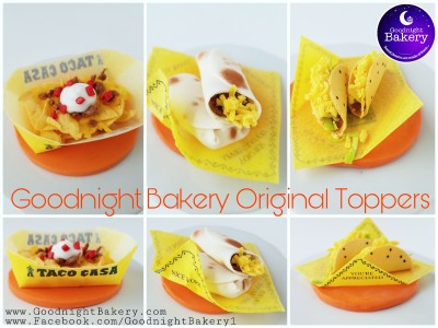 Taco Casa Themed Cupcake Toppers
