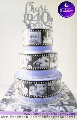 Photo Filmstrip Cake