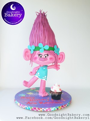3D Trolls Cake