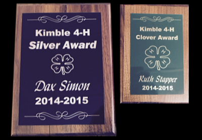 Laminate Walnut Plaques - Single Plate Engraved