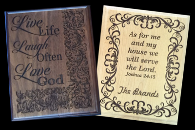 Customized Plaques - Wood Engraved