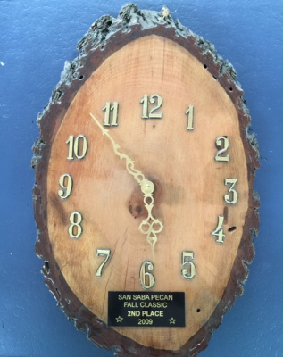 Custom Pecan or Mesquite Wood Clock