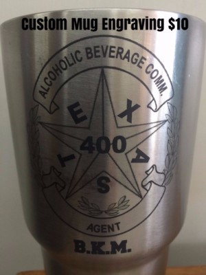 Custom Mug Engraving