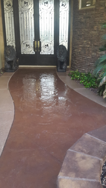concrete seal; pressure wash