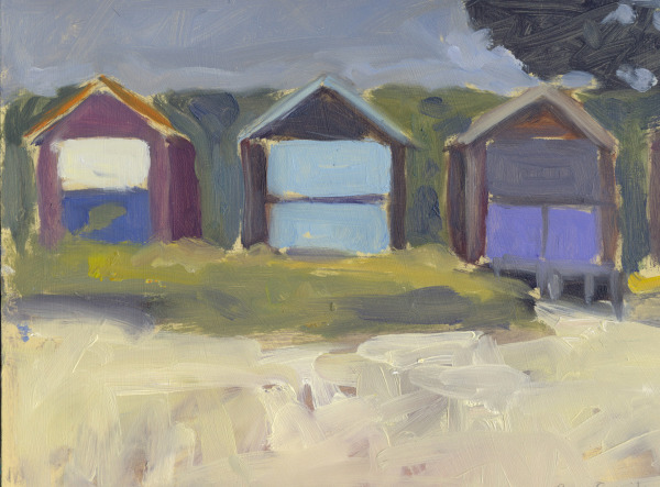 Beach Huts at Studland, Dorset