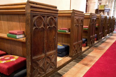 15th Century Oak pew ends