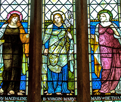 Three Mary's  Window, commissioned by the Drewitt family
