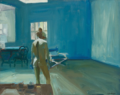 "alt=""Paul Wonner in my Studio"""