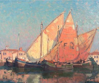 Edgar Payne Chioggia Boats