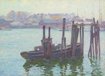 """alt=""""Maurice Braun Harbor Scene"""""""