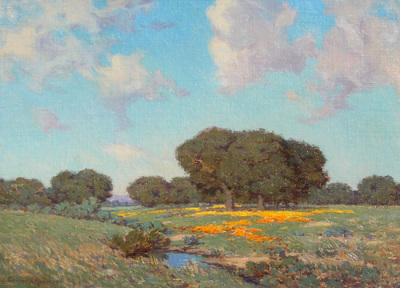 "alt=""Granville Redmond Poppies & Lake"""