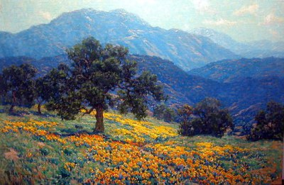 "alt=""Granville Redmond California Poppies & Oaks"""