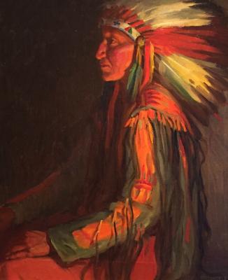 "alt=""Joseph Henry Sharp Indian Chief"""