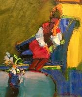 Henrietta Berk Artwork Seated Woman