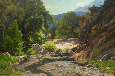 "alt=""William Wendt Laguna Canyon"""