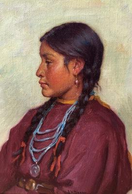 """alt=""""Joseph Henry Sharp Navajo Girl"""""""