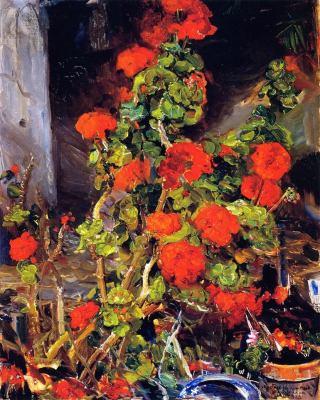 """alt=""""Joseph kleitsch geraniums"""""""