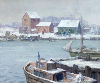 "alt=""Maurice Braun Winter Harbor"""