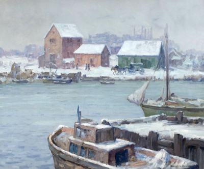 "alt=""Maurice Braun Winter Harbor"""