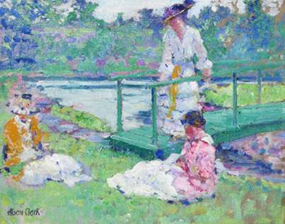 alson clark, picnic giverny