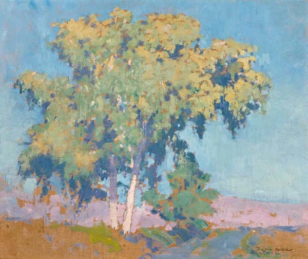 alson clark, landscape with a tree