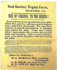 Appeal to arms, 1862