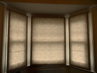 3 window bay roman blind for home in hampton
