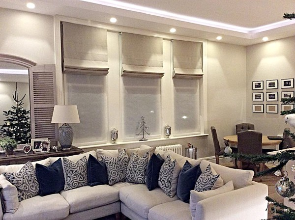 roman blinds and sheer roller blinds for a flat in richmond
