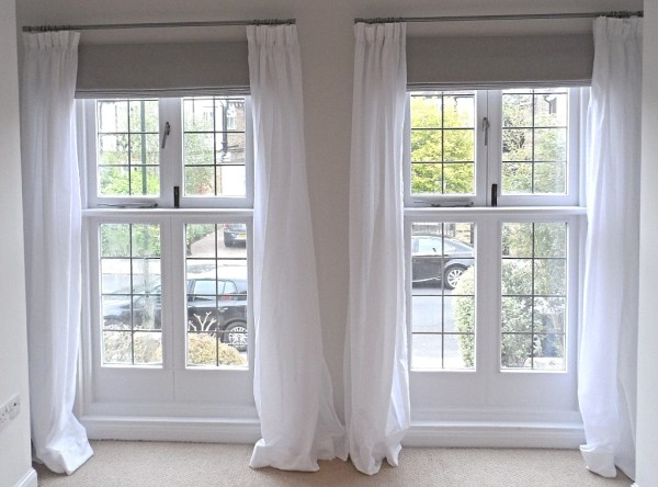Curtains and roman blinds on cameron fuller curtain poles in hampton