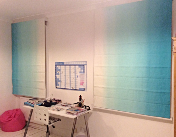 Blackout blinds in Kew, using Designers Guild fabric