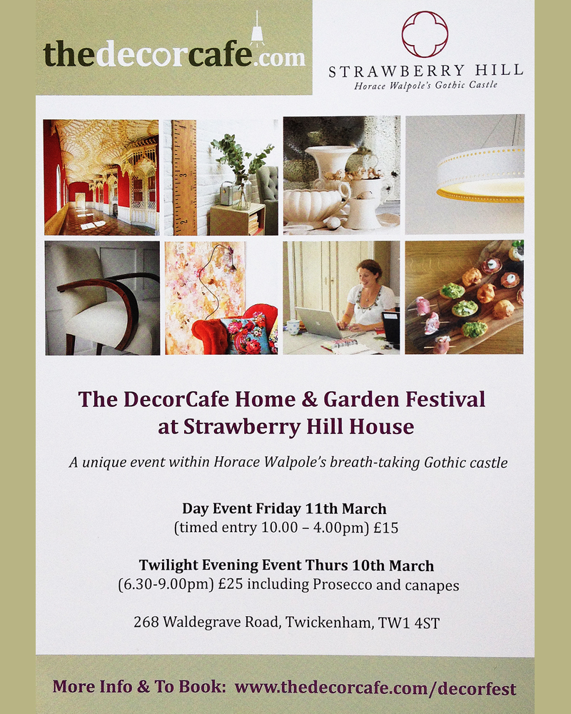 leaflet for creative home and garden festival at strawberry hill house