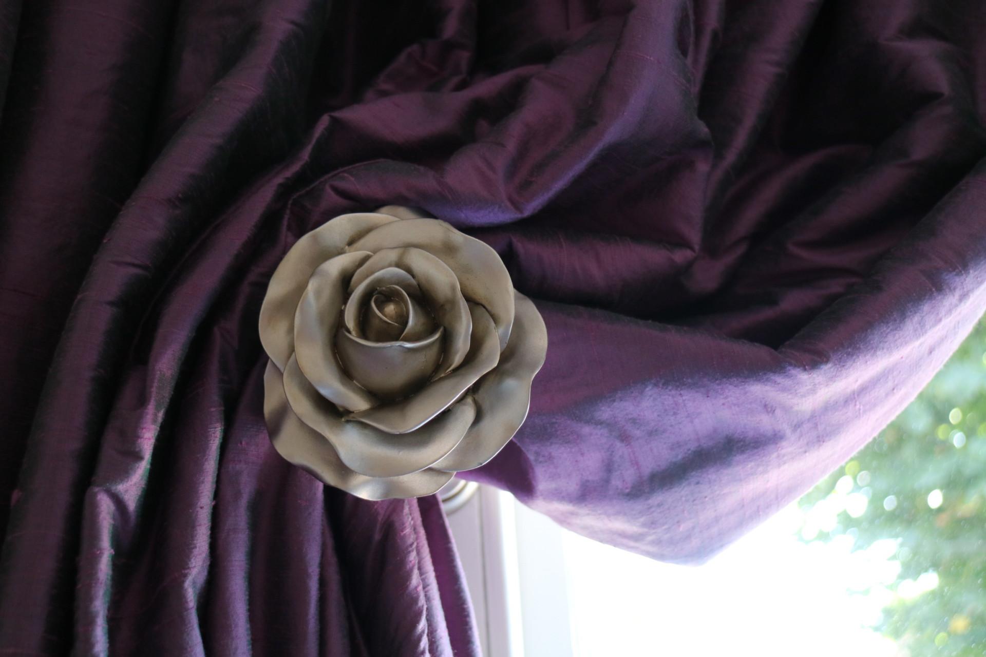 Bespoke Byron & Byron Holdback and Silk Curtains in Teddington