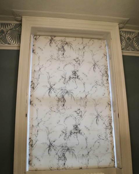 Elegant roman blind for a home in Blackheath