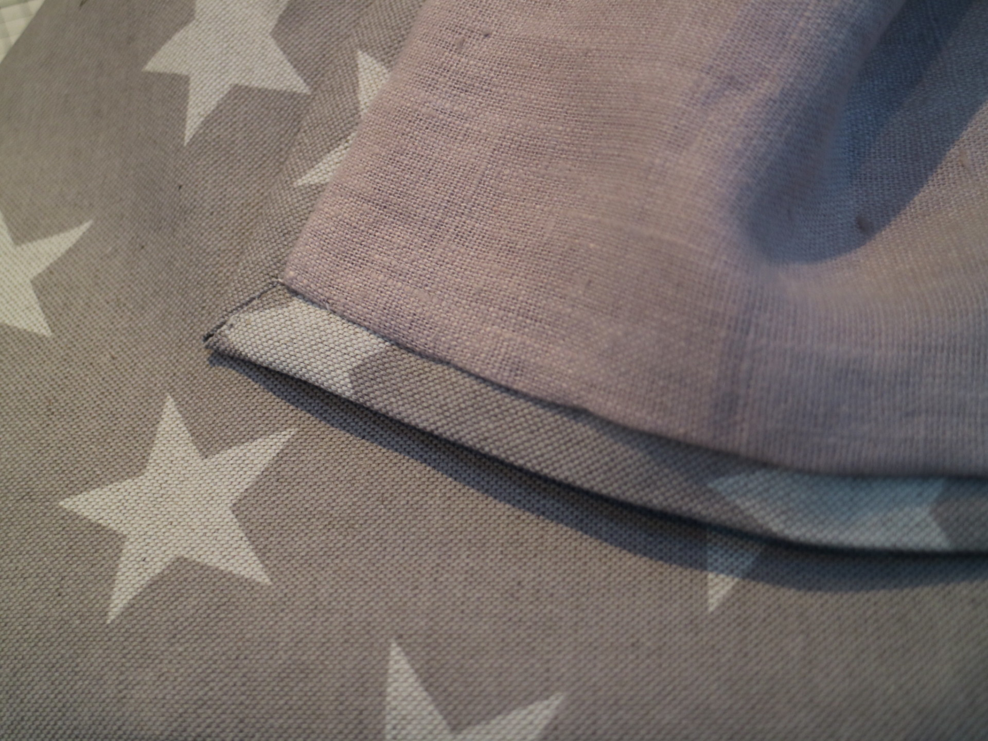 Handmade linen throw