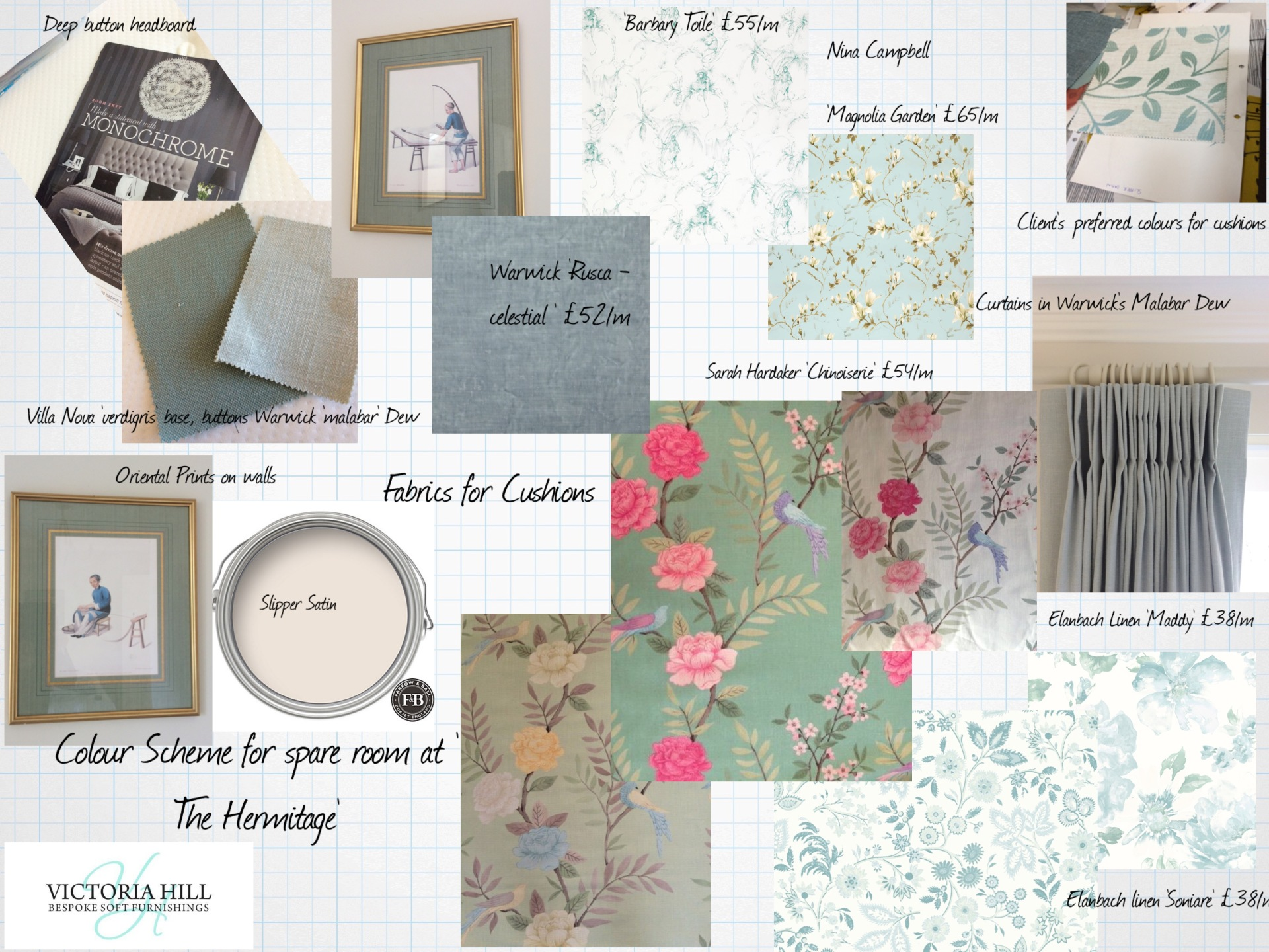 victoria hill mood board for a house in strawberry hill