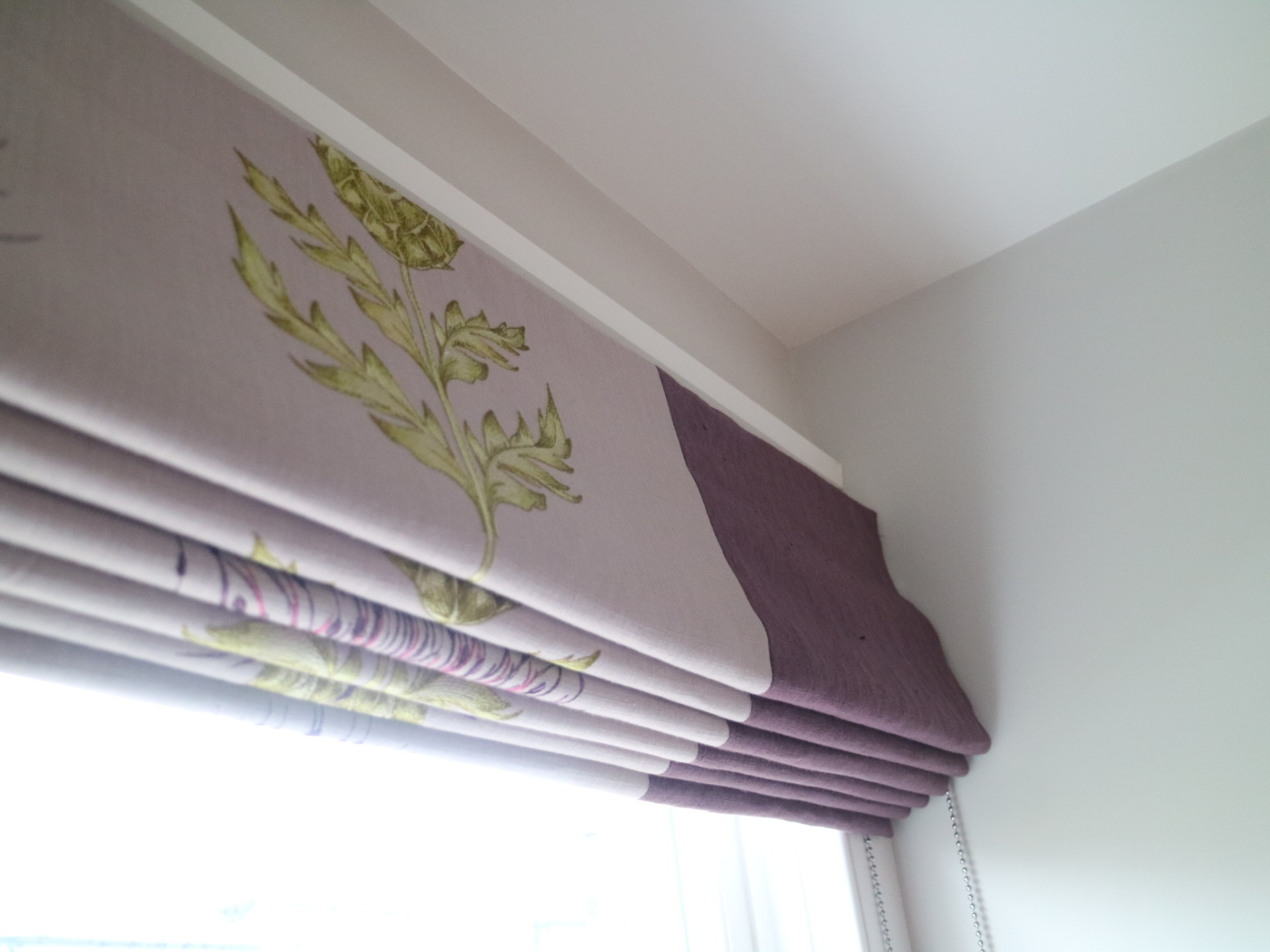 Roman blind with side borders, Twickenham