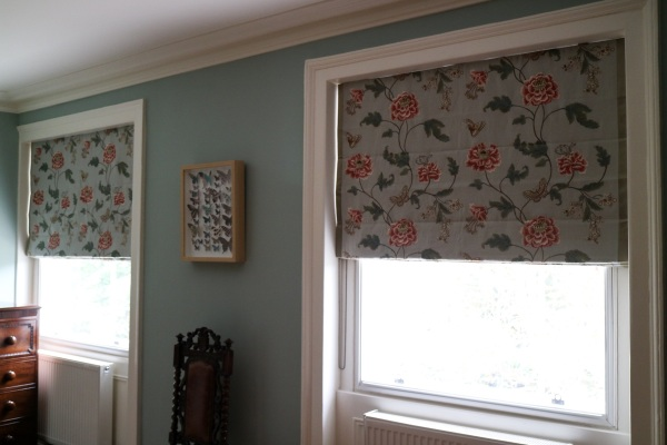 Pair of roman blinds in Blackheath