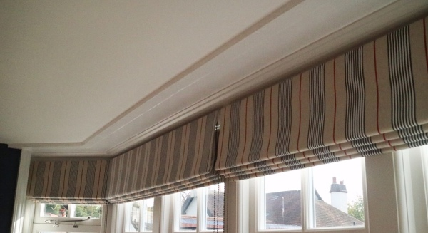 Large Bay Window Treatment in Thames Ditton