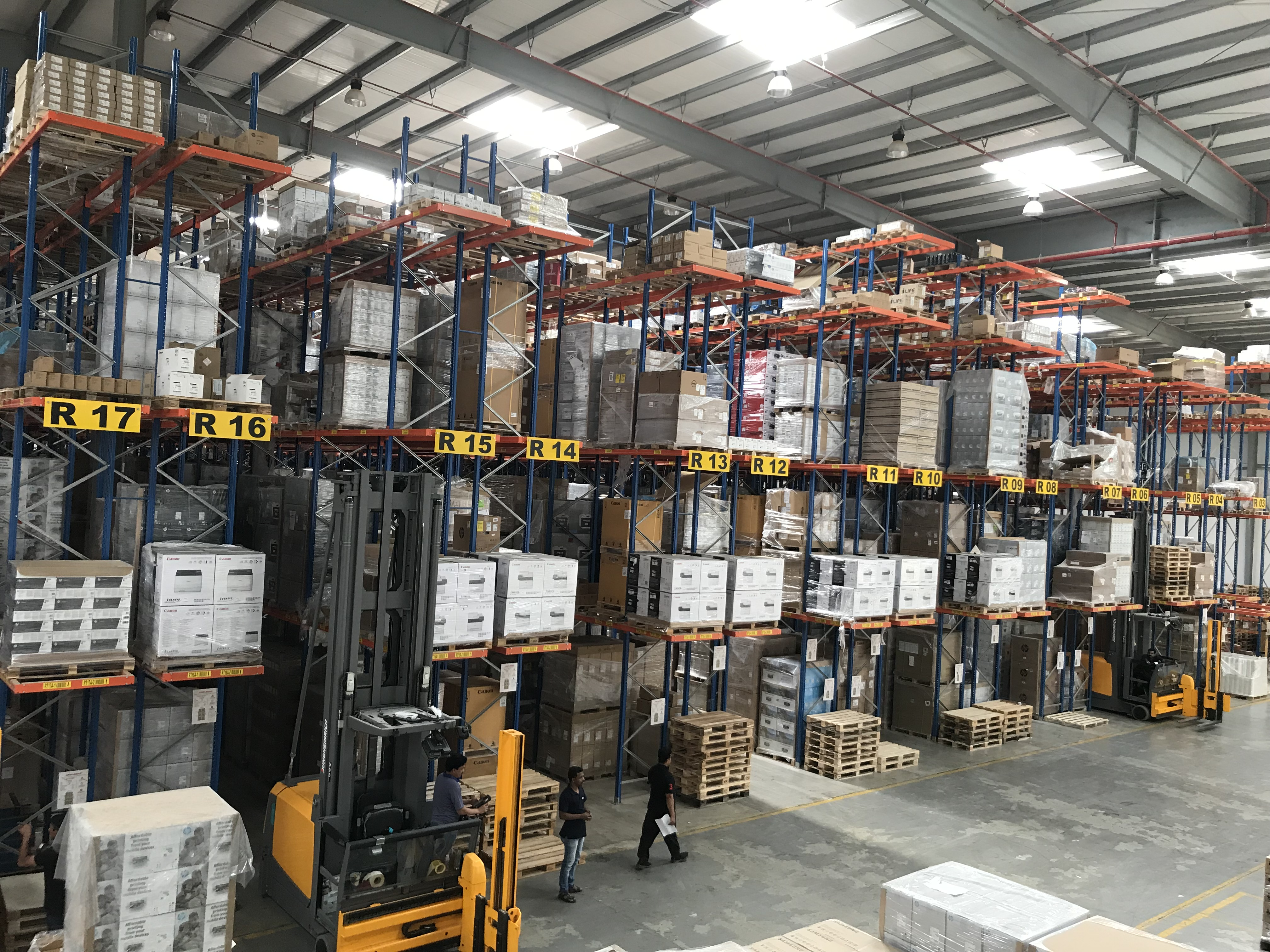 Forklift Operators At The Warehouse