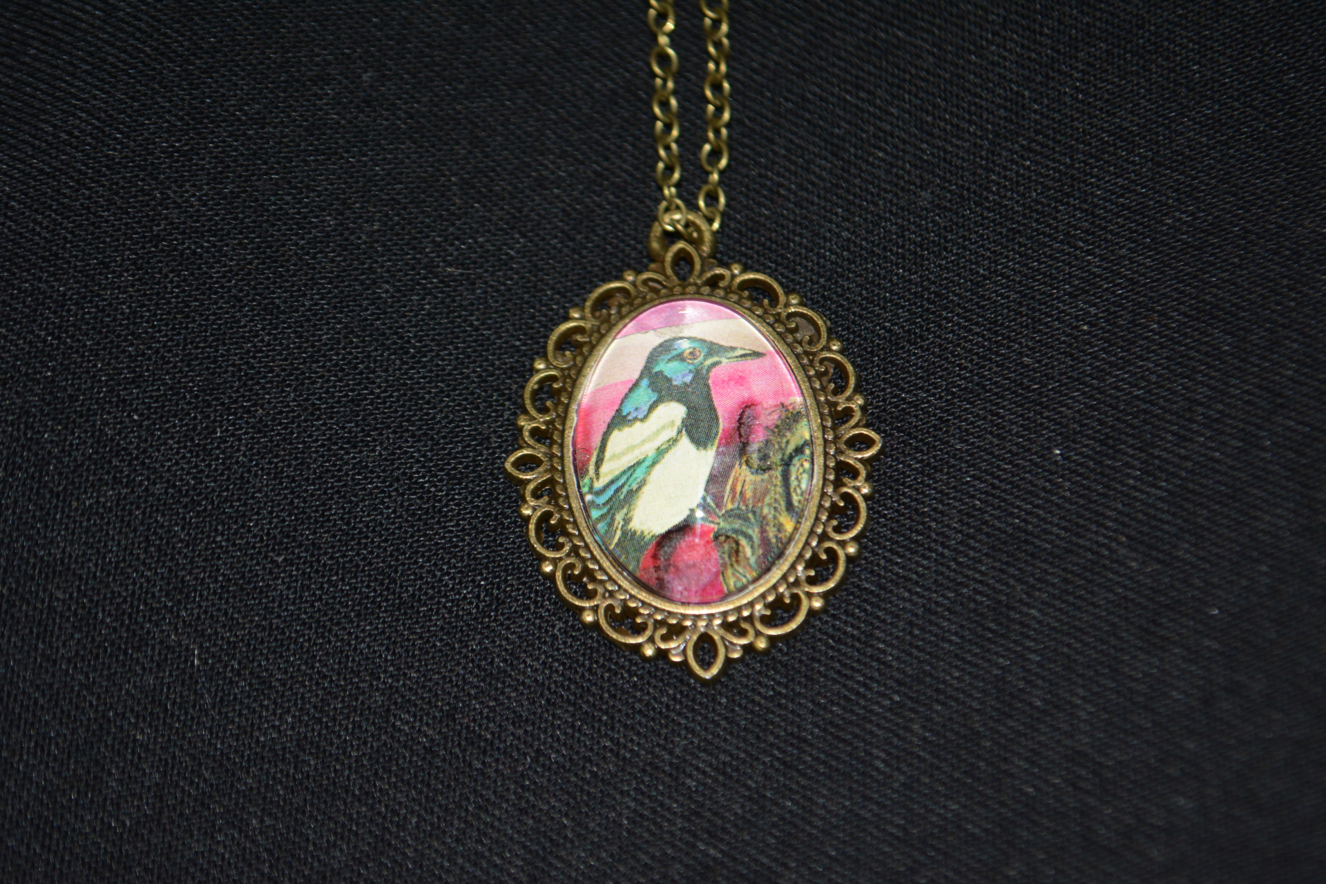 Magpie Bronze Necklace
