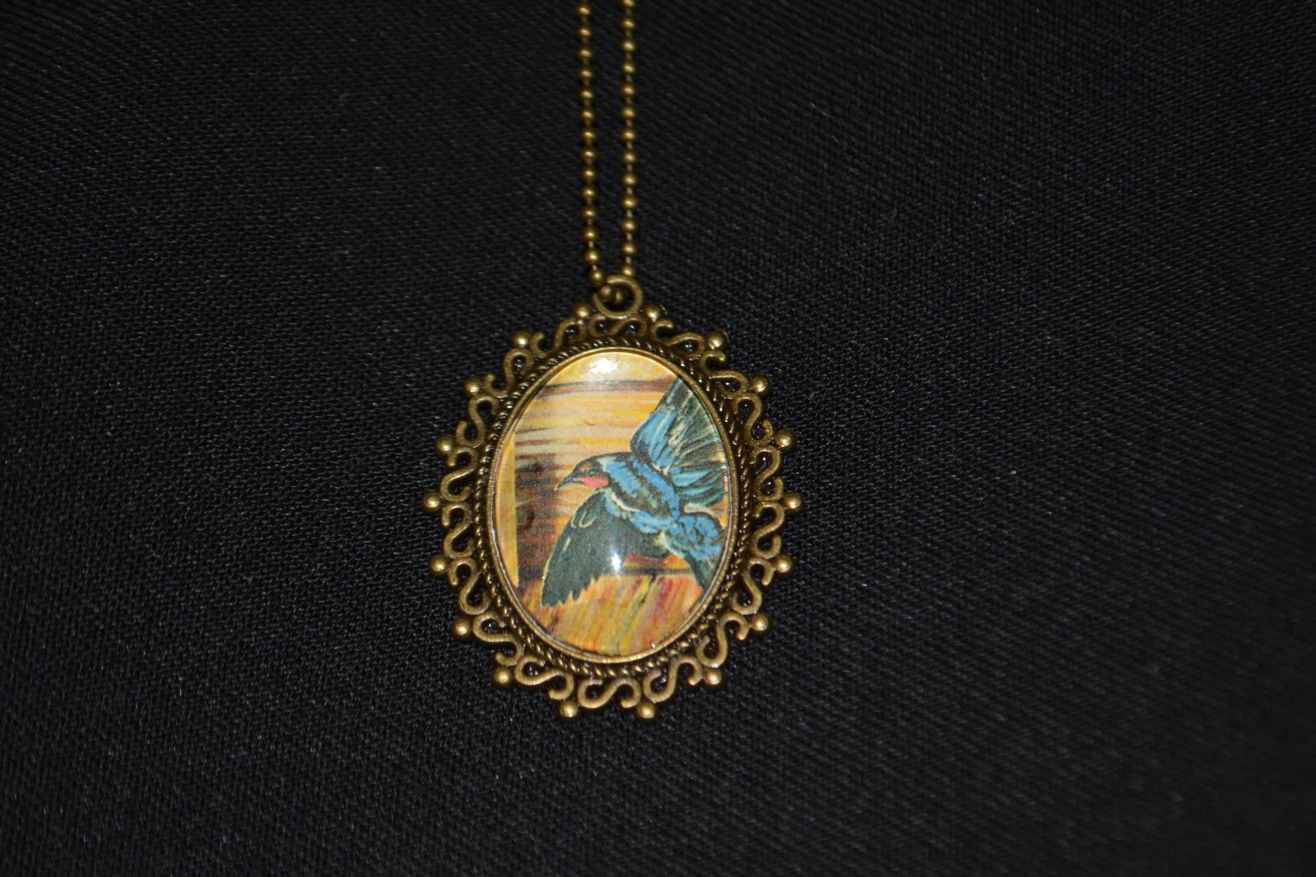 Swallow Bronze Necklace