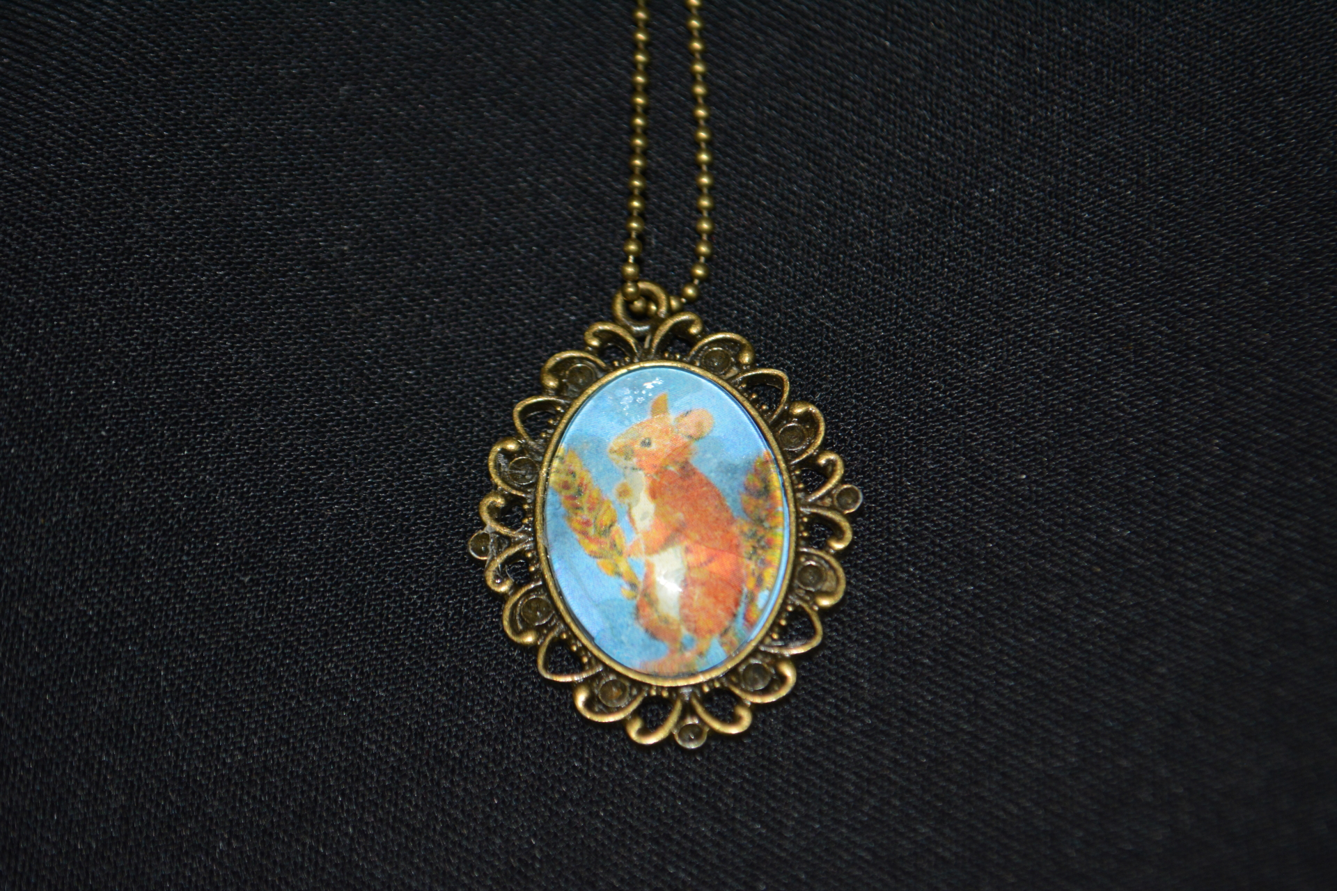 Field Mouse Bronze Necklace